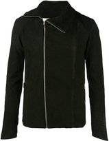 A New Cross - zipped fitted jacket - men - Cotton/Nubuck Leather - S