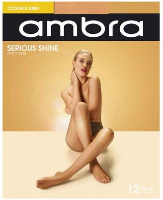 Ambra Serious Shine Control Brief Pantyhose Bronze