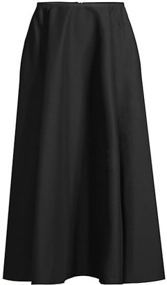 Lafayette 148 New York Helena A-Line Midi Skirt