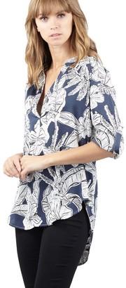 M&Co Izabel floral print dip back blouse