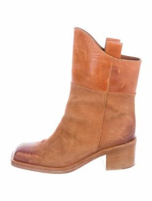 Chanel Paris-Dallas Interlocking CC Logo Boots Brown