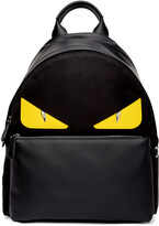 Thumbnail for your product : Fendi Black & Yellow Bag Bugs Backpack