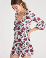 Aeo AE PUFFY CUFF RUFFLE V-NECK T-SHIRT DRESS