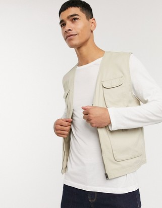 French Connection utility vest jacket