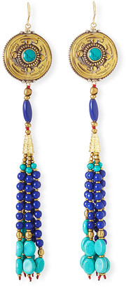 Devon Leigh Antique-Inspired Tassel Drop Earrings