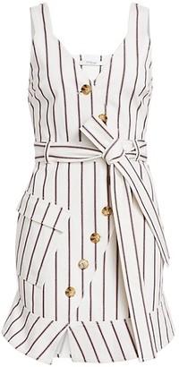 Derek Lam 10 Crosby Striped Stretch Mini Dress