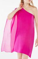 BCBGMAXAZRIA Alana One-Shoulder Silk Dress