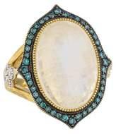 Jude Frances 18K Moonstone & Diamond Moroccan Ring