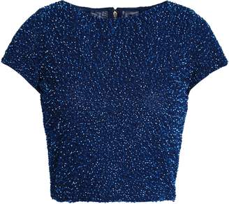 Alice + Olivia Sequined Tulle Top