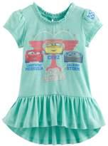 Disney Pixar Disney / Pixar Cars 3 Lightning McQueen, Jackson Storm & Cruz Ramirez Toddler Girl Ruffle-Hem Tee