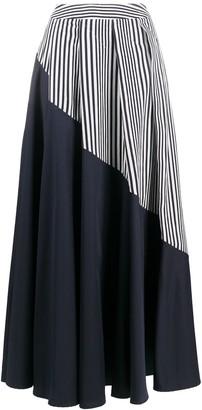 Palmer Harding Vertical Stripe Panel Flared Skirt