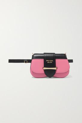 Prada Sidonie Two-tone Leather Belt Bag - Pink