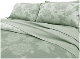 Natural Comfort Yue Home Textile Yarn-Dyed Linen Cotton Duvet Cover Set, Lily, Sage, K