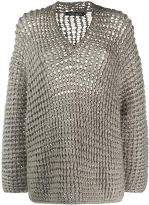 Iris von Arnim Handstrick chunky knit jumper