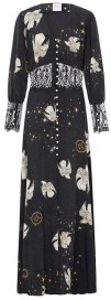 Hayley Menzies Free As A Bird Lace Panel Silk Maxi Dress - XS
