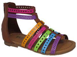 Mia Kaylee Multicoloured T-Strap Sandals