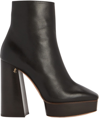 Jimmy Choo Bryn Platform Leather Booties