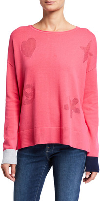 LISA TODD Good Vibrations Long-Sleeve Cotton Sweater