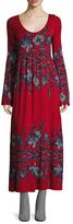 Free People Midnight Garden Printed Midi Dress