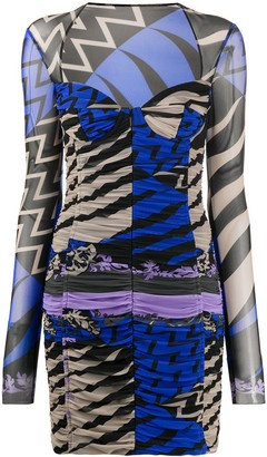 Emilio Pucci x Koche geometric print ruched dress