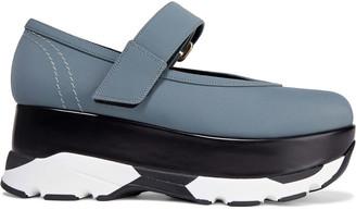 Marni Leather-trimmed Neoprene Platform Sneakers
