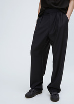 Raf Simons dark navy wide pants with waistband buckles