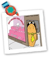 3dRose LLC qs_2434_1 Rich Diesslins Fish Fishing Deep Beneath Cartoons - Oyster Runs Pearl Jewelry Shop - Quilt Squares