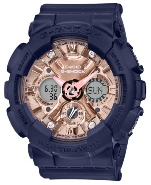 G-Shock Women's Analog-Digital Navy Resin Strap Watch 45.9mm