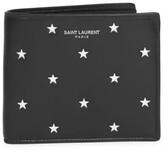 Saint Laurent Star Print Leather Bi-Fold Wallet