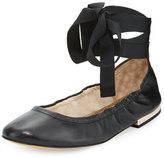 Sam Edelman Fallon Lace-Up Ballerina Flat, Black