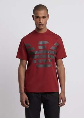 Emporio Armani R-Ea-Mix T-Shirt With Reflective Maxi Logo