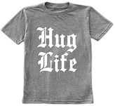 Urban Smalls Spot Gray 'Hug Life' Crewneck Tee - Toddler & Boys