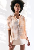 Silence & Noise Silence + Noise Ace Sheer High/Low Button-Down Shirt
