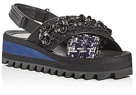 Kurt Geiger Women's Olina Embellished Slingback Platform Sandals