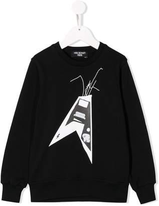 Neil Barrett Kids guitar print sweatshirt