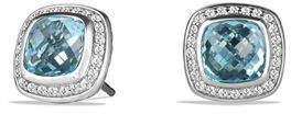 David Yurman Albion Stud Earrings with Prasiolite and Diamonds