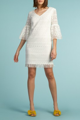 Trina Turk Voyage Lace Bell Sleeve Shift Dress