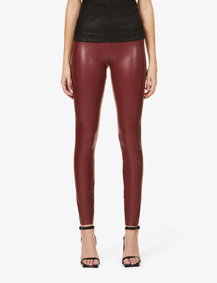 Wolford Edie Forming high-rise faux-leather leggings