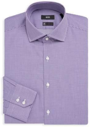 HUGO BOSS Gordon Gingham Cotton Dress Shirt