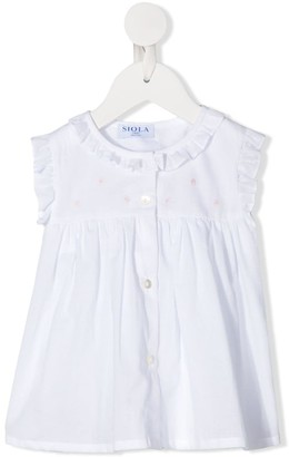 Siola Ruffle-Trim Embroidered Blouse