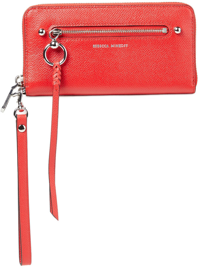 Rebecca Minkoff Coated Textured-leather Wallet