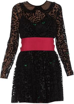RED Valentino Flock-Printed Mini Dress