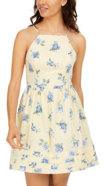City Studios Juniors' Floral-Print A-Line Dress
