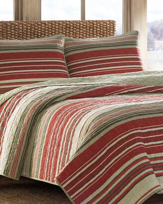 Eddie Bauer Yakima Valley Stripe Reversible Quilt Set