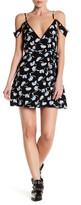 Lucca Couture Cold Shoulder Lace Trim Wrap Dress