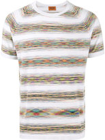Missoni multi-stripe T-shirt - men - Cotton - 48
