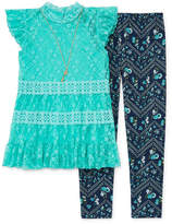 Knitworks Knit Works Lace Top Legging Set with Necklace - Girls' 4-16 & Plus