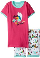 Hatley Tropical Birds Short Pajama Set Girl's Pajama Sets