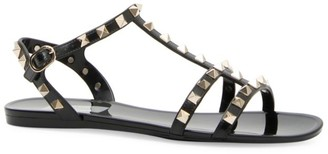 Valentino Garavani Rockstud PVC Gladiator Sandals