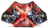 Alexander McQueen Large De Manta Floral Print Leather Clutch - Black